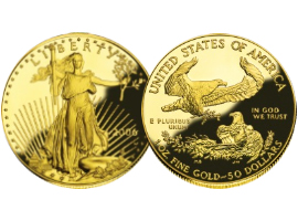 "Golden coin ""American eagle"""
