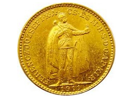 "The Hungarian gold coin ""Franjo Josip"""