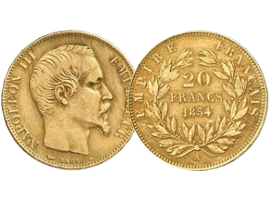 "French gold coin ""Napoleon"""