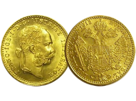 "Austrian gold coin ""Franz Joseph"" single and quadruple"