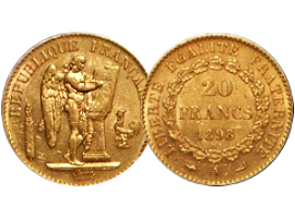 "French gold coin ""Angel"""